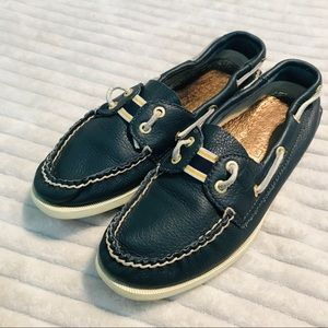 Sperry Navy Slip On Loafers Boat Shoes size 6